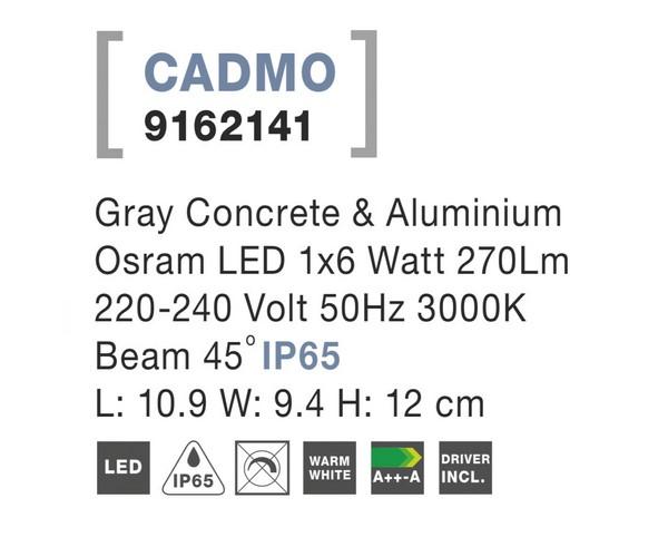 Nova Luce NL-9162141 Cadmo kültéri homlokzatvilágítás