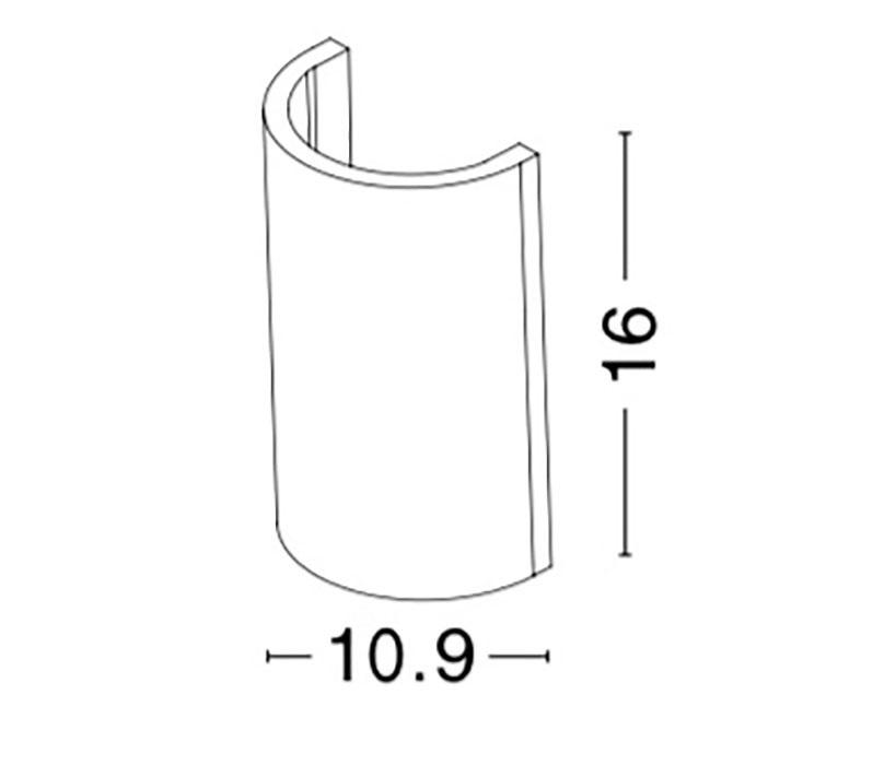 Nova Luce NL-9162142 Cadmo kültéri homlokzatvilágítás