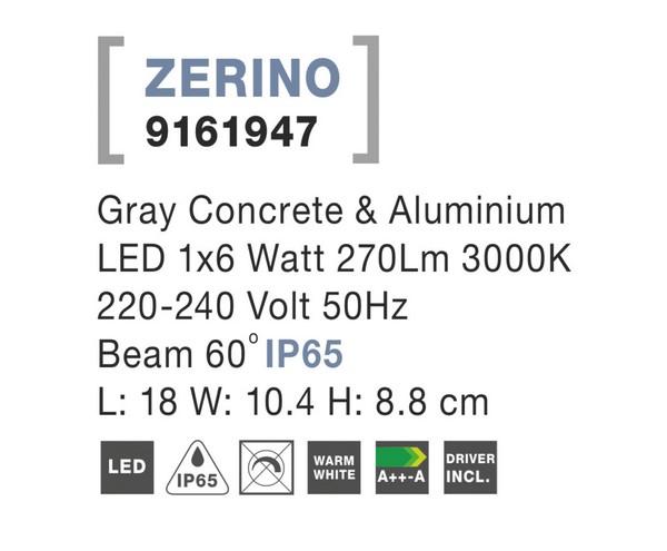 Nova Luce NL-9161947 Zerino kültéri homlokzatvilágítás