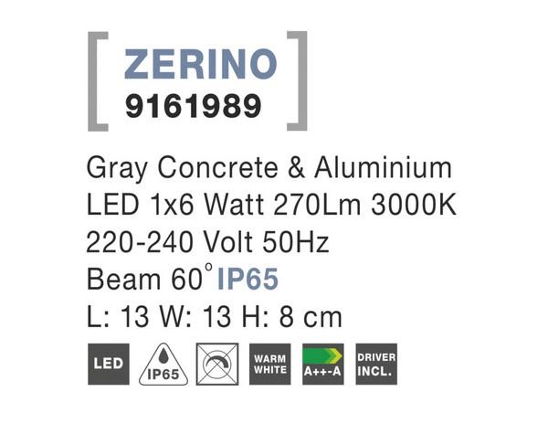Nova Luce NL-9161989 Zerino kültéri homlokzatvilágítás