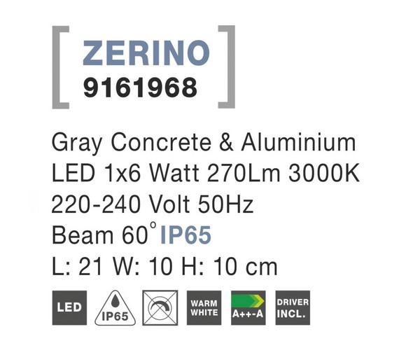 Nova Luce NL-9161968 Zerino kültéri homlokzatvilágítás