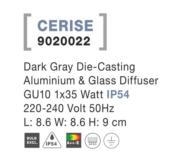 Nova Luce NL-9020022 Cerise kültéri mennyezeti lámpa