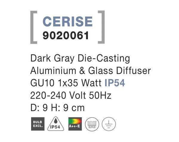 Nova Luce NL-9020061 Cerise kültéri mennyezeti lámpa