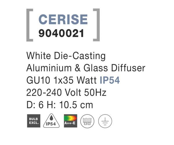 Nova Luce NL-9040021 Cerise kültéri mennyezeti lámpa