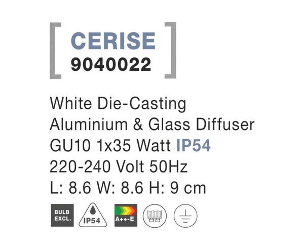 Nova Luce NL-9040022 Cerise kültéri mennyezeti lámpa