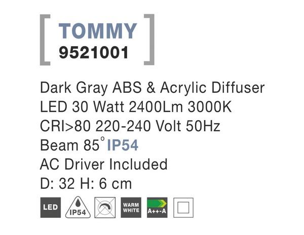 Nova Luce NL-9521001 Tommy LED kültéri mennyezeti lámpa