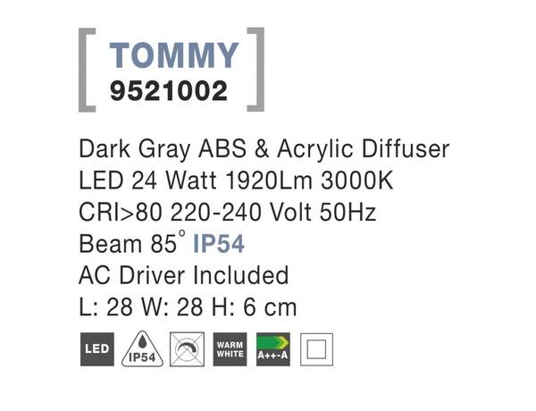Nova Luce NL-9521002 Tommy LED kültéri mennyezeti lámpa