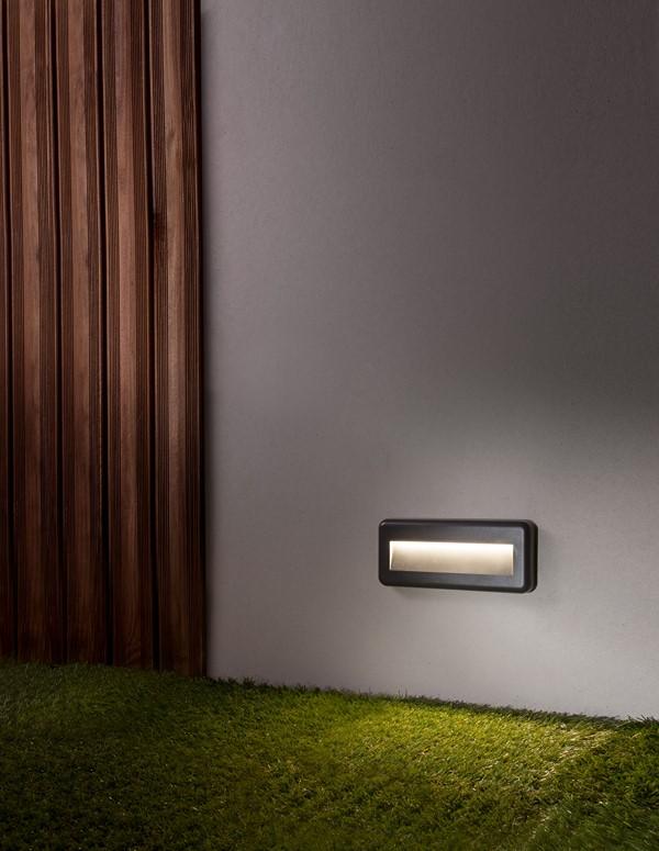 Nova Luce NL-812102 Pulsar LED kültéri falba építhető lámpa