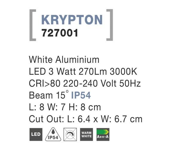 Nova Luce NL-727001 Krypton kültéri beépíthető lámpa / Nova Luce / lámpa