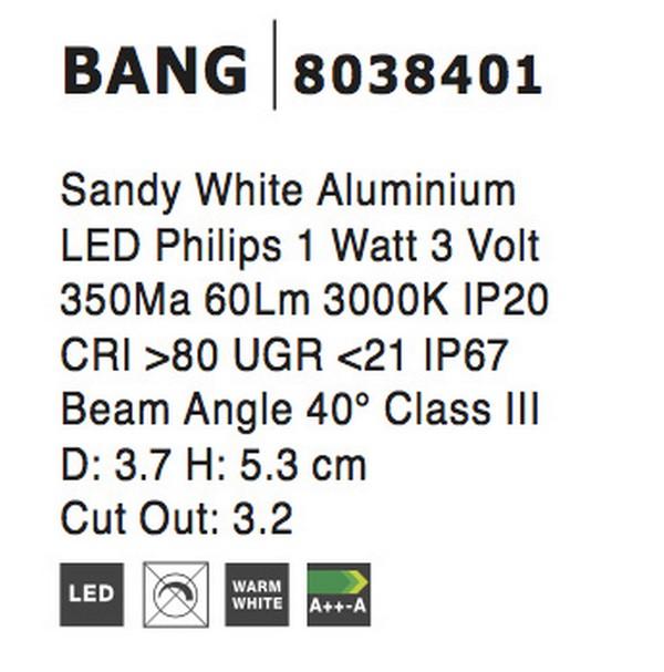 Nova Luce NL-8038401 Bang beépíthetõ lámpa