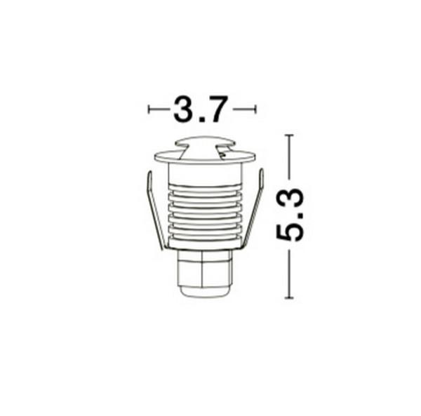 Nova Luce NL-8038801 Bang oldal falba építhetõ lámpa