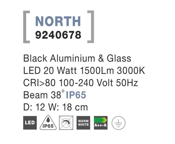 Nova Luce NL-9240678 North LED kültéri hangulatvilágítás