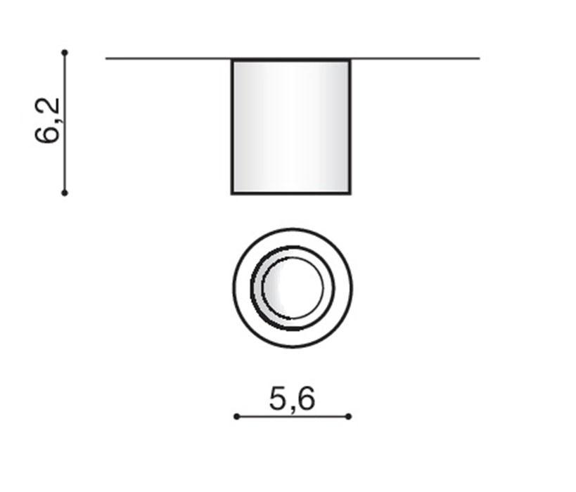 Azzardo AZ-2785 Nano Round LED mennyezeti lámpa