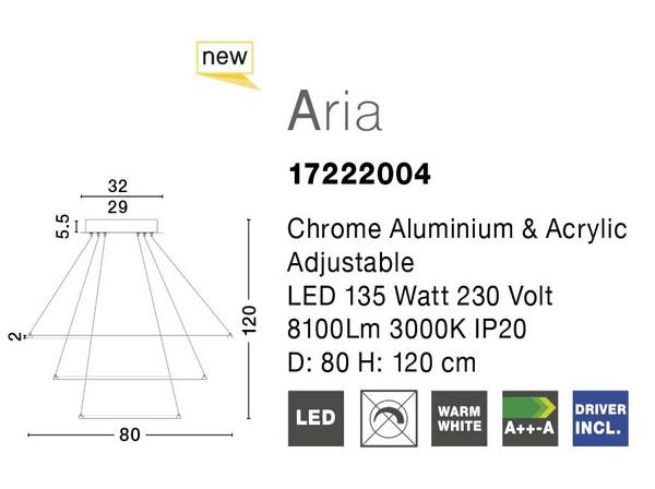 Nova Luce NL-17222004D Aria LED függeszték