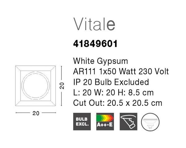 Nova Luce NL-41849601 Vitale beépíthető lámpa