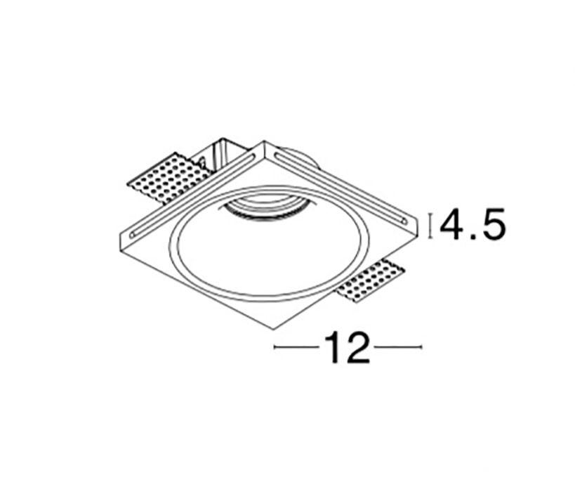 Nova Luce NL-51826201 Archi beépíthető lámpa