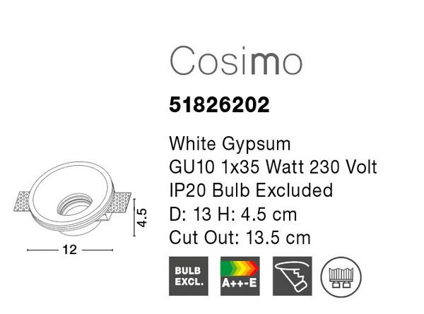 Nova Luce NL-51826202 Cosimo beépíthető lámpa