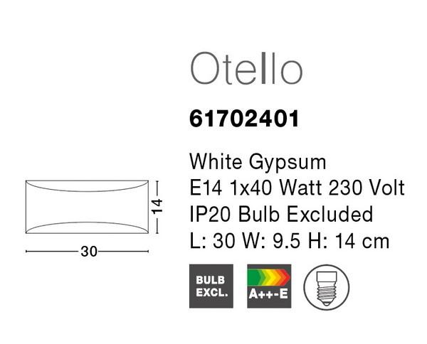 Nova Luce NL-61702401 Gypsum fali lámpa