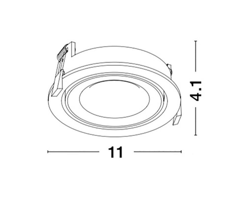 Nova Luce NL-7201201 Technical beépíthető lámpa