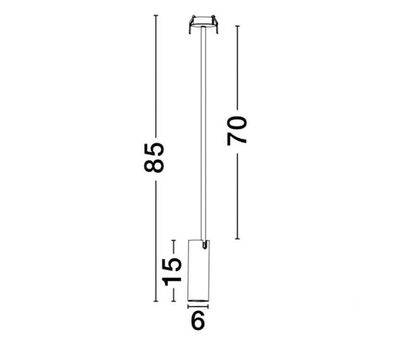 Nova Luce NL-7409603 Brando beépíthető lámpa