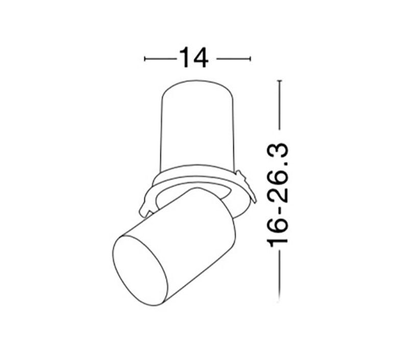 Nova Luce NL-7770445 Track beépíthető mennyezeti lámpa