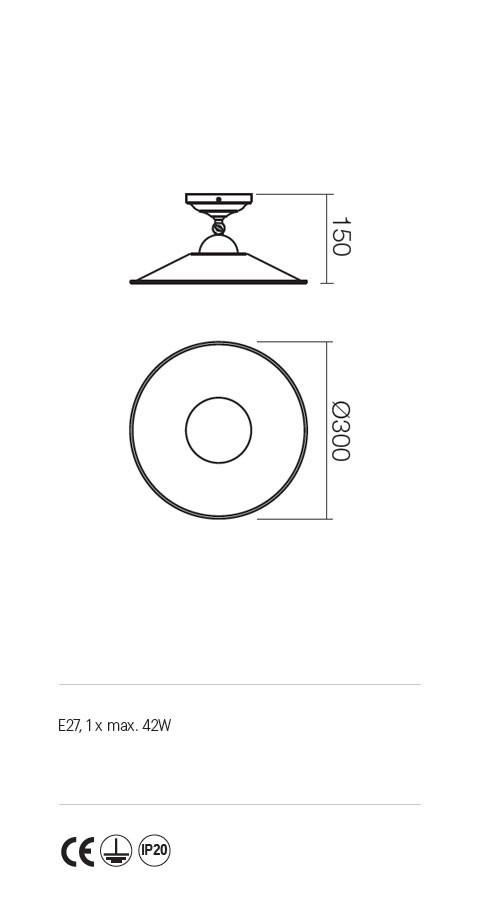 Incanti Lea 02-902+M30BR rusztikus mennyezeti lámpa