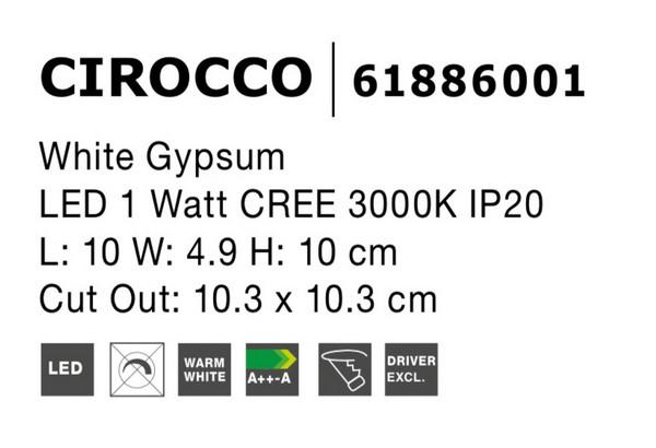 Nova Luce NL-61886001 Cirocco LED beépíthetõ lámpa