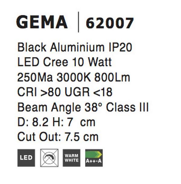 Nova Luce NL-62007 Gema LED beépíthetõ lámpa