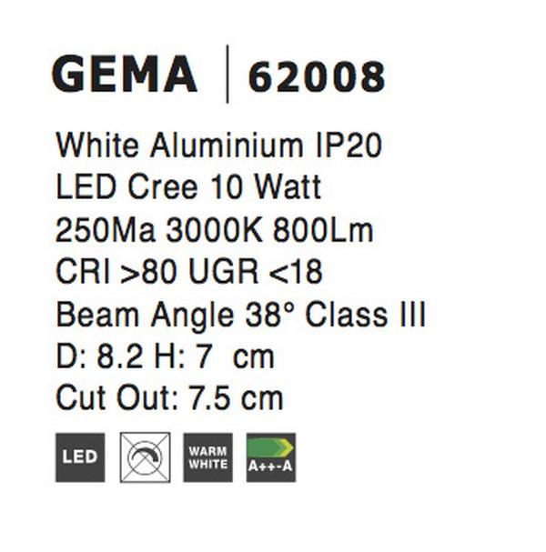 Nova Luce NL-62008 Gema LED beépíthetõ lámpa