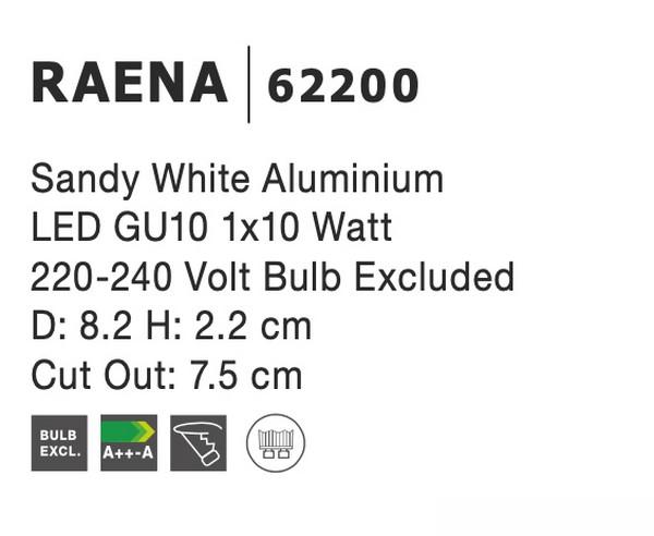 Nova Luce NL-62200 Raena beépíthetõ lámpa