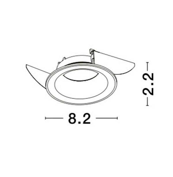 Nova Luce NL-62202 Zelmira beépíthetõ lámpa