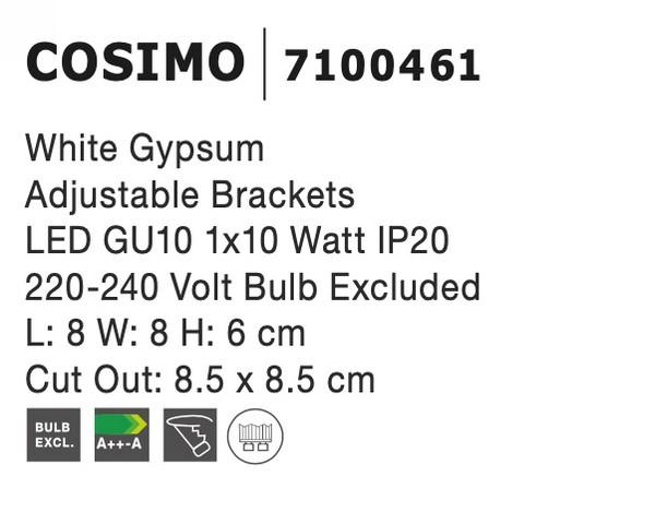 Nova Luce NL-7100461 Cosimo beépíthetõ lámpa