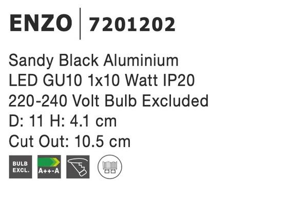 Nova Luce NL-7201202 Enzo beépíthetõ lámpa