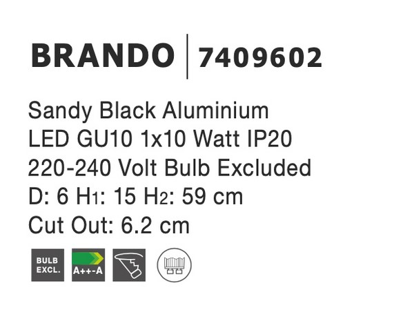 Nova Luce NL-7409602 Brando beépíthetõ lámpa