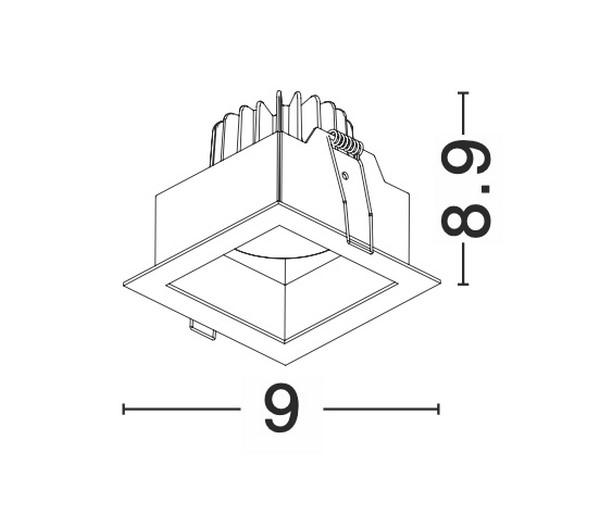 Nova Luce NL-8001402 Olbia beépíthetõ fürdõszobai lámpatest