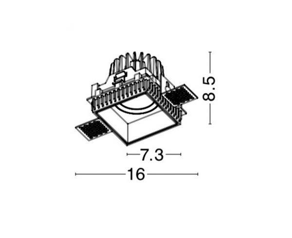 Nova Luce NL-8014909 Belluno beépíthetõ fürdõszobai lámpatest