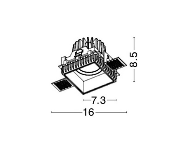 Nova Luce NL-8014910 Belluno beépíthetõ fürdõszobai lámpatest