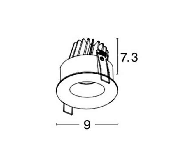 Nova Luce NL-8018509 Lazió beépíthetõ fürdõszobai lámpatest