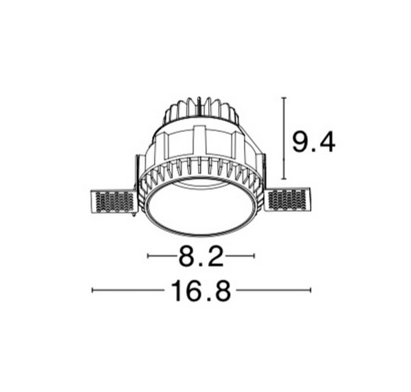 Nova Luce NL-8019310 Belluno beépíthetõ fürdõszobai lámpatest