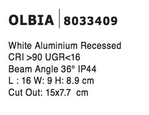 Nova Luce NL-8033409 Olbia beépíthetõ fürdõszobai lámpatest