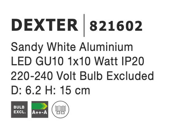Nova Luce NL-821602 Dexter spotlámpa