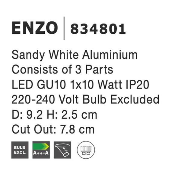 Nova Luce NL-834801 Enzo beépíthetõ lámpa