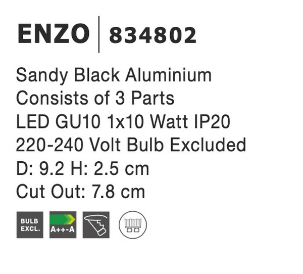 Nova Luce NL-834802 Enzo beépíthetõ lámpa