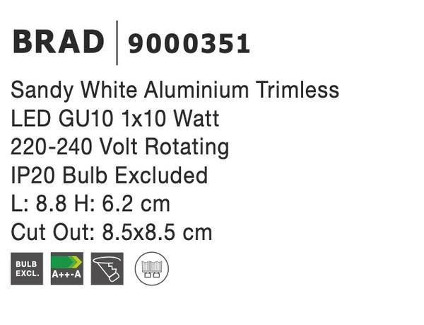 Nova Luce NL-9000351 Brad beépíthetõ lámpa