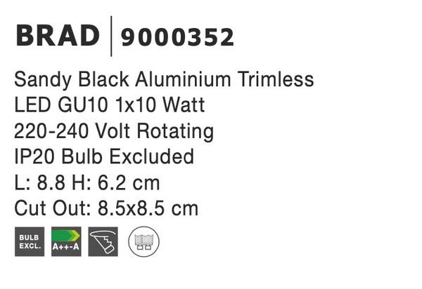 Nova Luce NL-9000352 Brad beépíthetõ lámpa