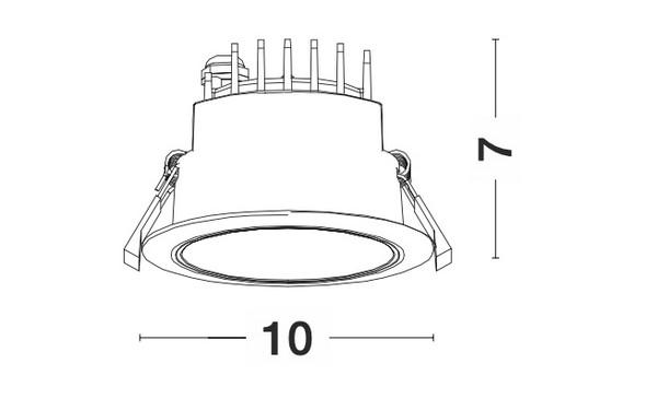 Nova Luce NL-9011762 Carpo LED süllyeszthetõ lámpa