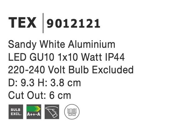 Nova Luce NL-9012121 Tex víz-védett süllyeszthetõ lámpa