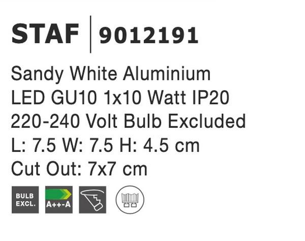 Nova Luce NL-9012191 Staf süllyeszthetõ lámpa