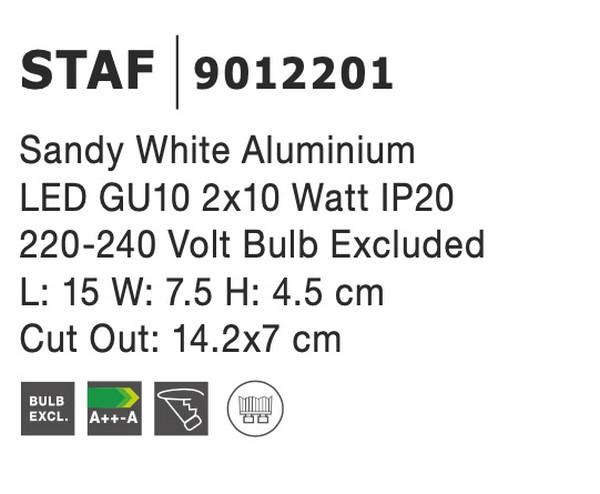 Nova Luce NL-9012201 Staf süllyeszthetõ lámpa