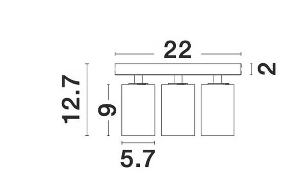 Nova Luce NL-9012282 Tod spotlámpa